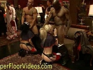 The upper floor orgy party