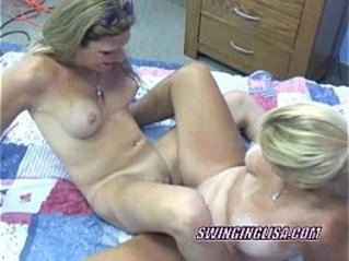 Lesbian liisa shares a dong with raunchy crista