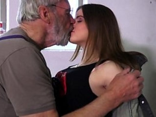 Such an innocent petite pussy for an old horny hairy grandpa