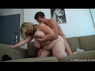 Doggy style fuck for huge big boobs chubby blonde