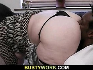 Busty bitch spreads her legs for big black cock