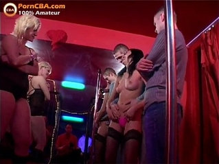 Real amateur orgy in swinger club