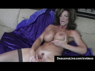Hot Blooded Cougar Deauxma Dildo Fucks Pussy Squirts!