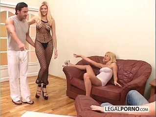 sexy blondes and big cocks enjoying a foursome mg