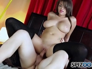 Spizoo Brazilian Cassidy Banks is punished by a huge white cock, big booty big boobs