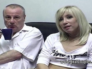 Old man cleans his girlfriends cummy asshole