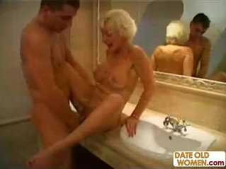 Blonde grandmom gets huge facial cream