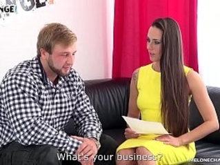 Incredibly Muscular Stud Fucks Mea Melone at His First porn Casting