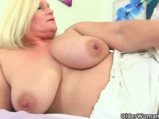 British grannies playing with soft sensual body