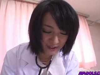 Horny doctor Shinobu Mizushima gets banged by her patient and facial