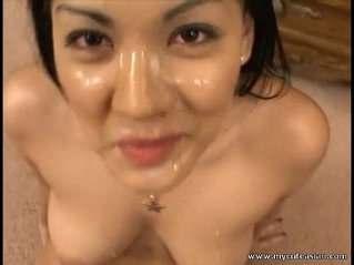 Hottest Asian gives pov blowjob