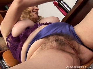 Super cute chubby old spunker loves to fuck her fat juicy pussy U