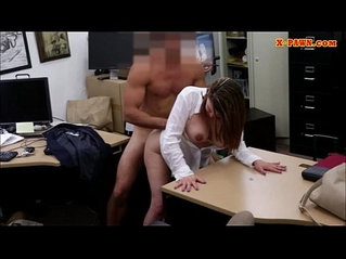 Foxy huge natural boobs business lady screwed up for money