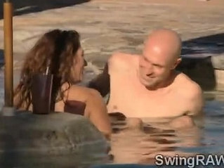 This pool party is an excuse to make swinger couples get nasty