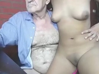 Old man and young butt girl