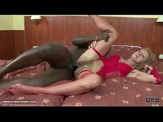 Interracial hardcore Porn Granny likes it rough gets anal fucked and cumshot