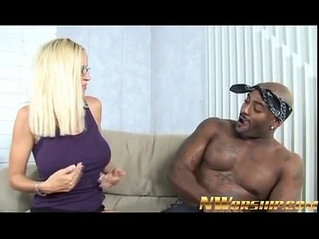 Blonde milf and big black huge dick fun