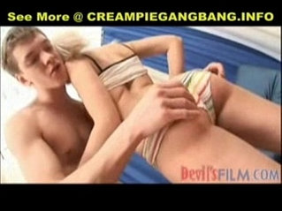 Pigtail anal creampie