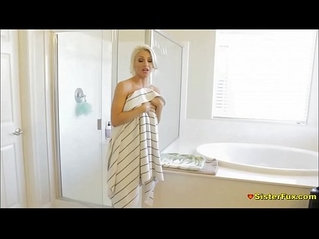 Showering Teen Sister Spied Then gets Fucked